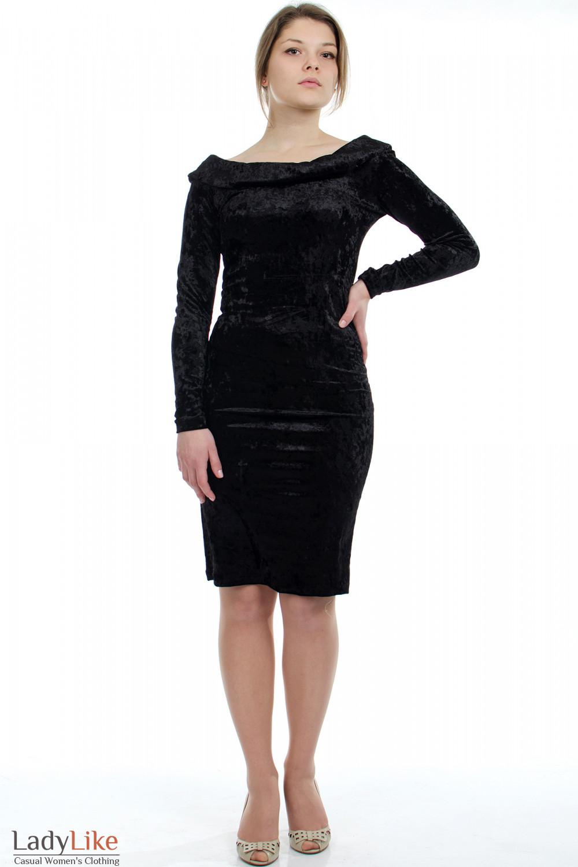 Платье вечернее черное Деловая женская одежда