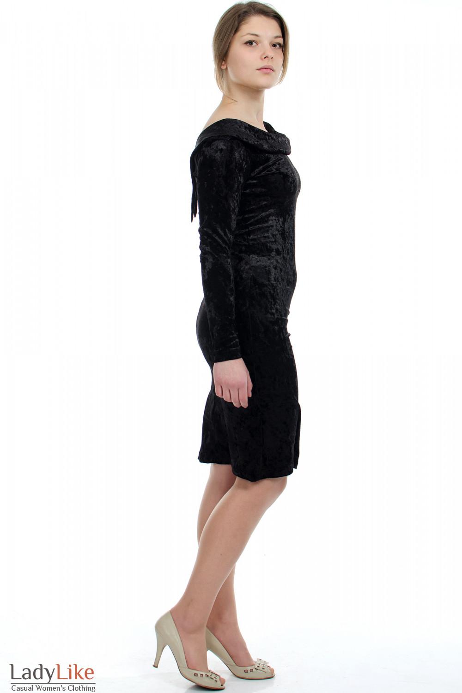 Платье вечернее черное вид сбоку Деловая женская одежда