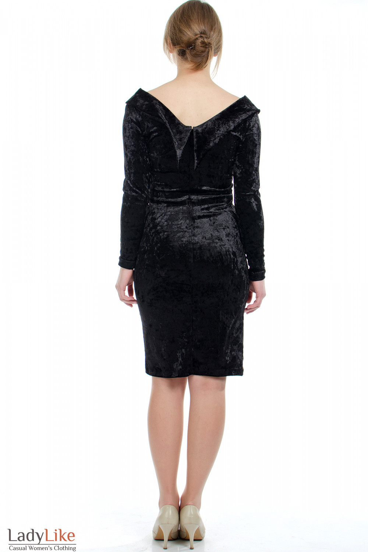 Платье вечернее черное вид сзади Деловая женская одежда