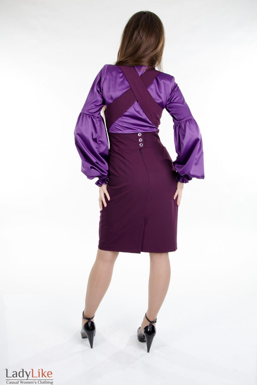 Стильный классический сарафан. Деловая женская одежда вид сзади
