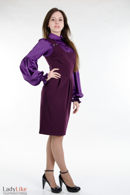 Стильный классический сарафан. Деловая женская одежда вид спереди
