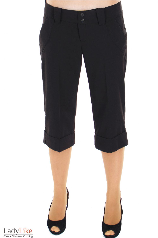 Шорты классические черные Деловая женская одежда