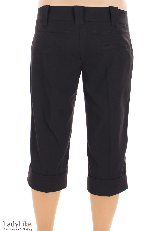 Шорты классические черные вид сзади Деловая женская одежда