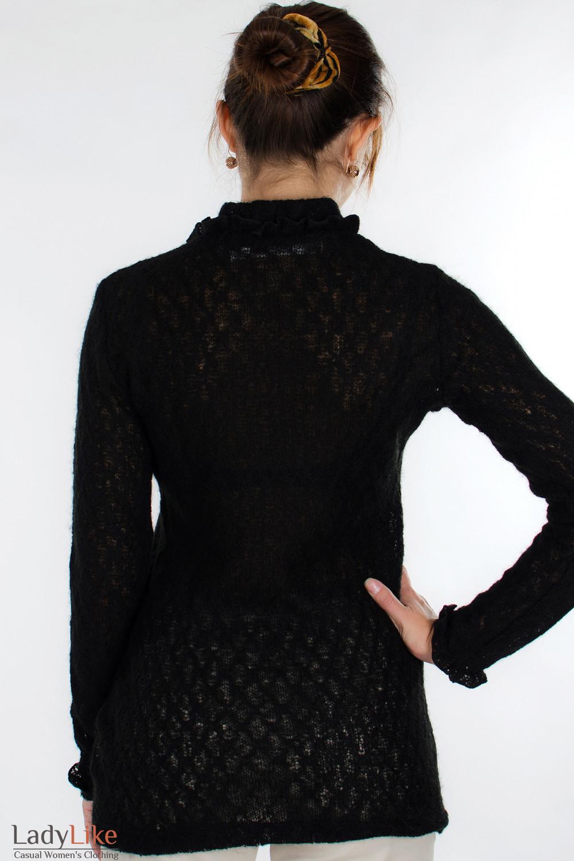 Свитер черный вид сзади Деловая женская одежда