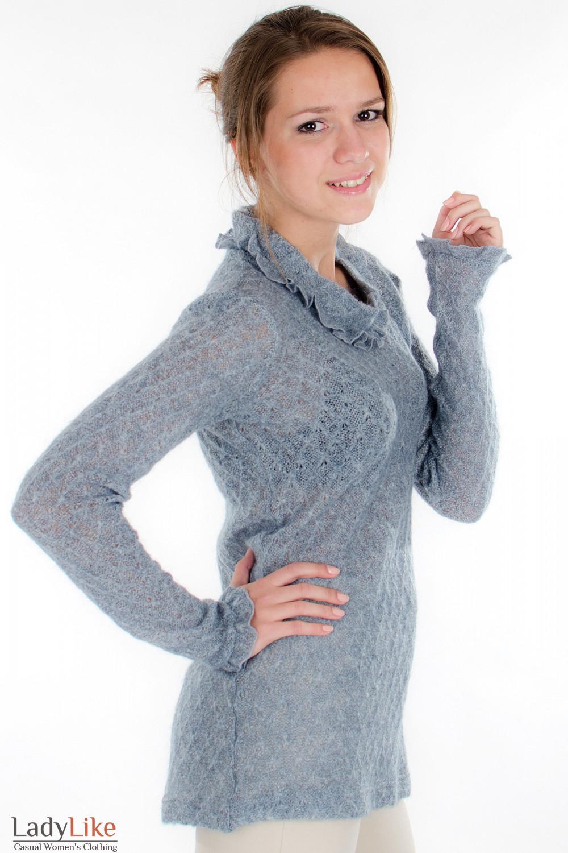 Свитер серый Деловая женская одежда