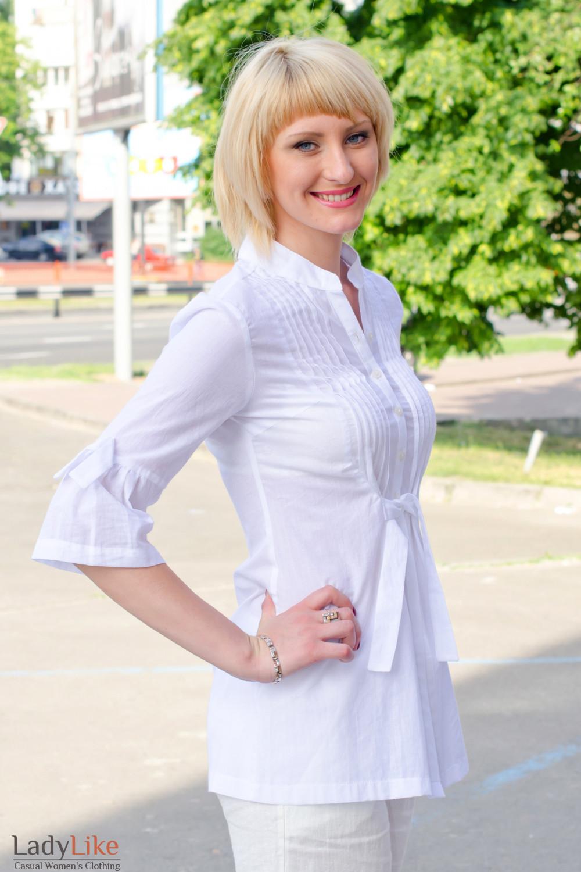 Туника белая Деловая женская одежда