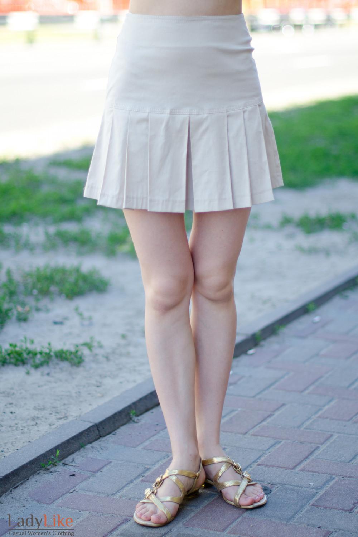 Юбка бежевая летняя 1 Деловая женская одежда