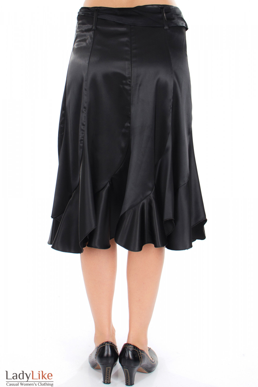 Юбка годе черная вид сзади Деловая женская одежда