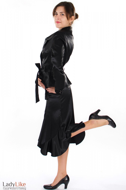 Юбка годе черная вид сбоку Деловая женская одежда