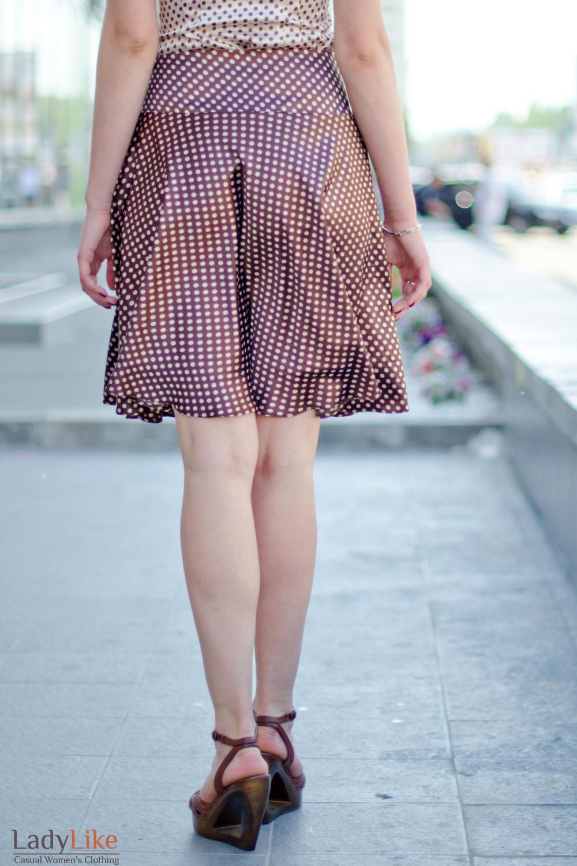 Юбка летняя расклешенная Деловая женская одежда