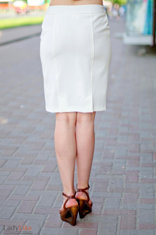 Юбка молочная зауженая Деловая женская одежда