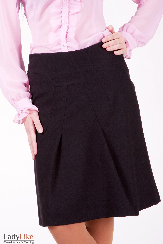 Юбка 418b Оригинальная юбка свободного покроя.