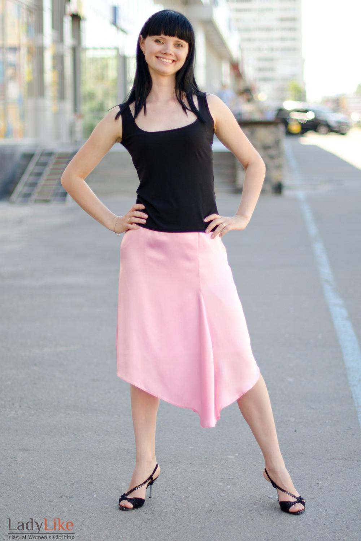 Юбка розовая летняя Деловая женская одежда