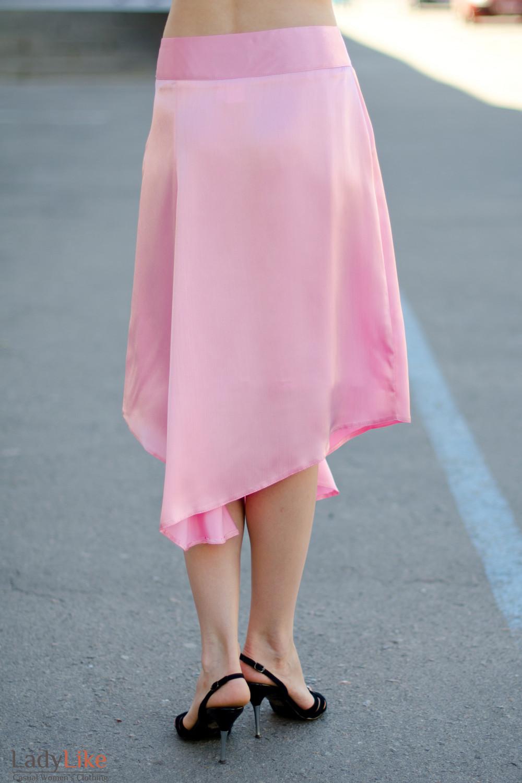 Юбка розовая летняя вид сзади Деловая женская одежда