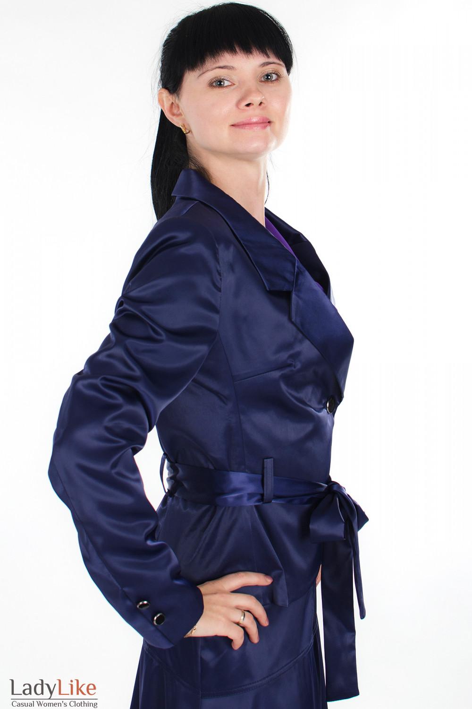 Жакет фиолетовый вид сбоку Деловая женская одежда