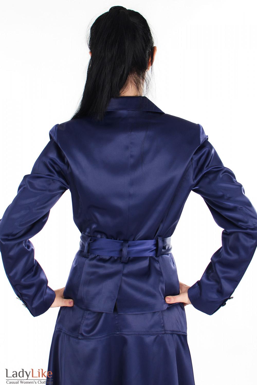 Жакет фиолетовый вид сзади Деловая женская одежда
