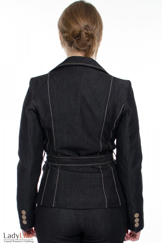 """Жакет с поясом """"Джинс"""" вид сзади  Деловая женская одежда"""