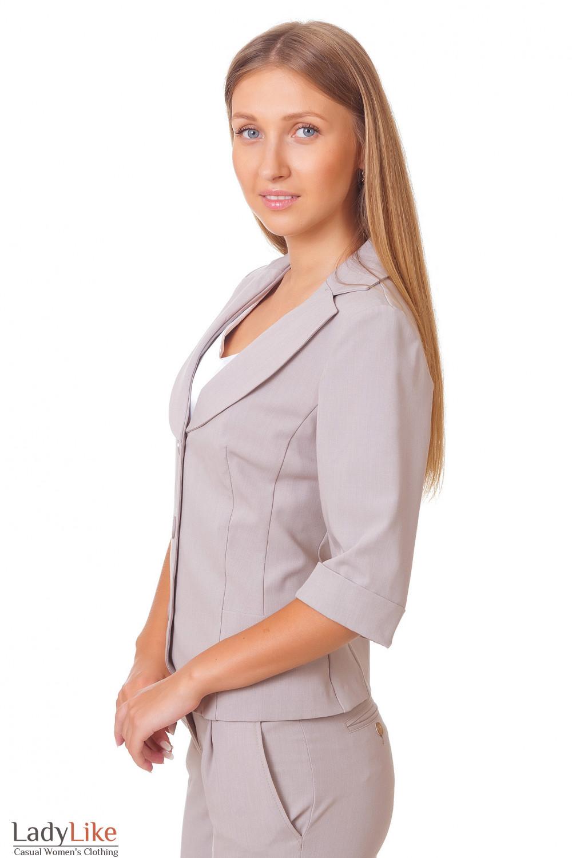 Купить летний бежевый жакет Деловая женская одежда