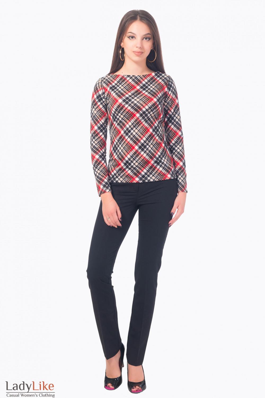 Купить брюки черные зауженные длиной 7/8 Деловая женская одежда
