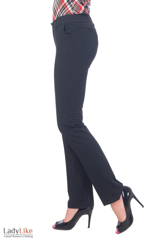 Купить брюки черные длиной 7/8 Деловая женская одежда