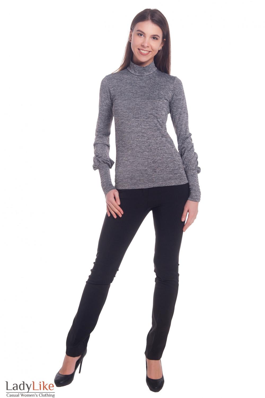 Купить зауженные брюки черного цвета Деловая женская одежда