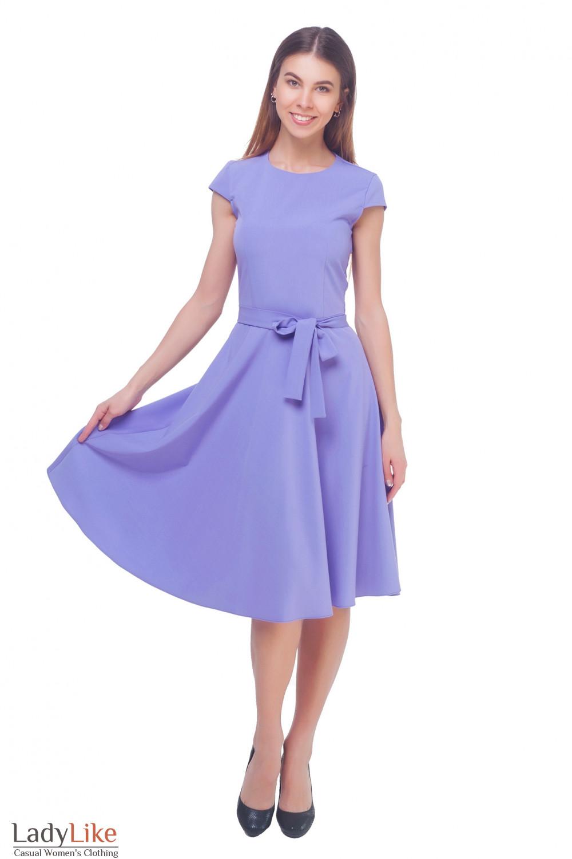 Купить платье сиреневое пышное Деловая женская одежда