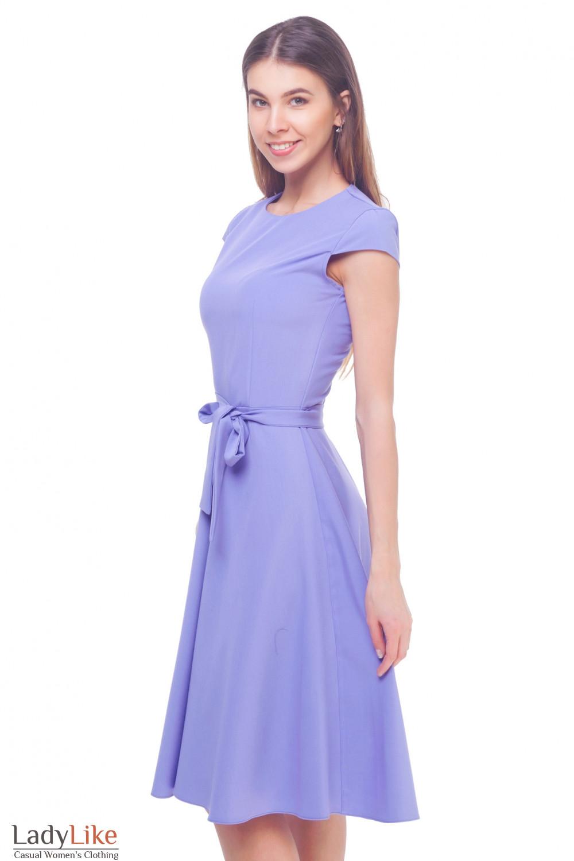 Купить сиреневое платье Деловая женская одежда