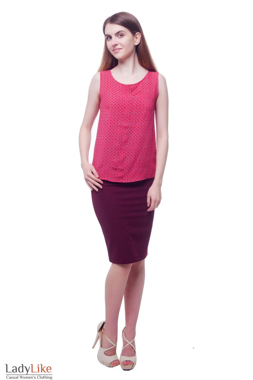 Купить деловую бордовую юбку-карандаш Деловая женская одежда фото