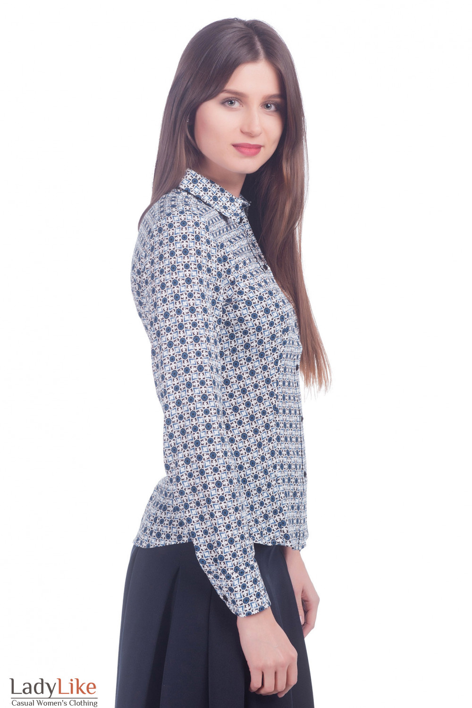 Блузка хлопковая Деловая женская одежда фото