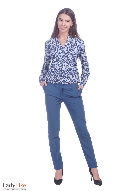 Блузка в цветочки Деловая женская одежда фото