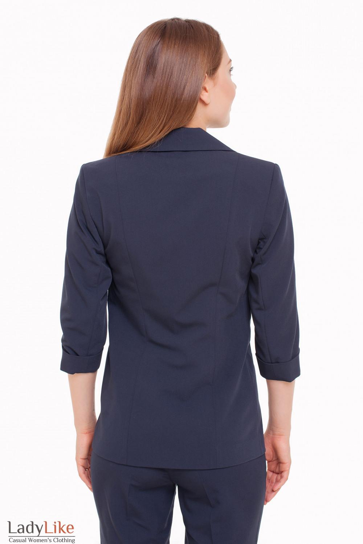Жакет темно-синий Деловая женская одежда фото