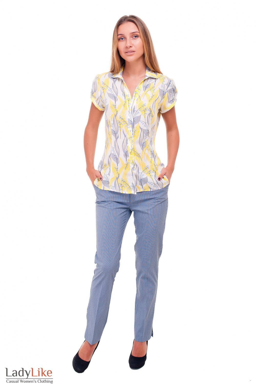 Купить стильные брюки в клетку Деловая женская одежда фото