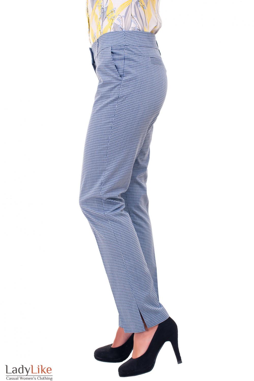 Купить брюки 7/8 в клетку Деловая женская одежда фото