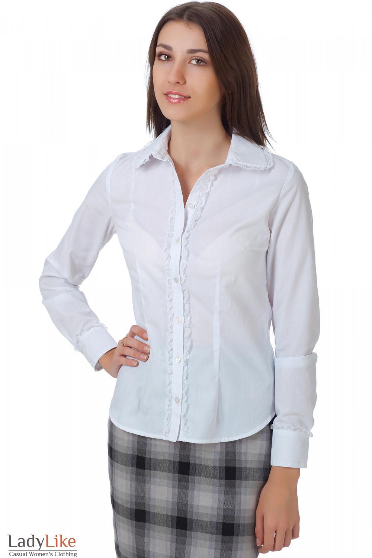 Деловые белые блузки купить