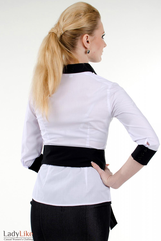 Белая Блузка С Жабо Купить С Доставкой
