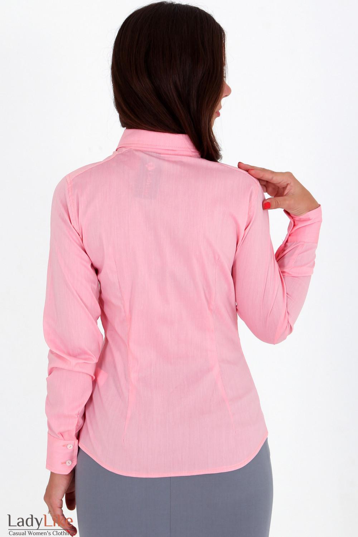 Фото Блузка бледно-розовая вид сзади Деловая женская одежда