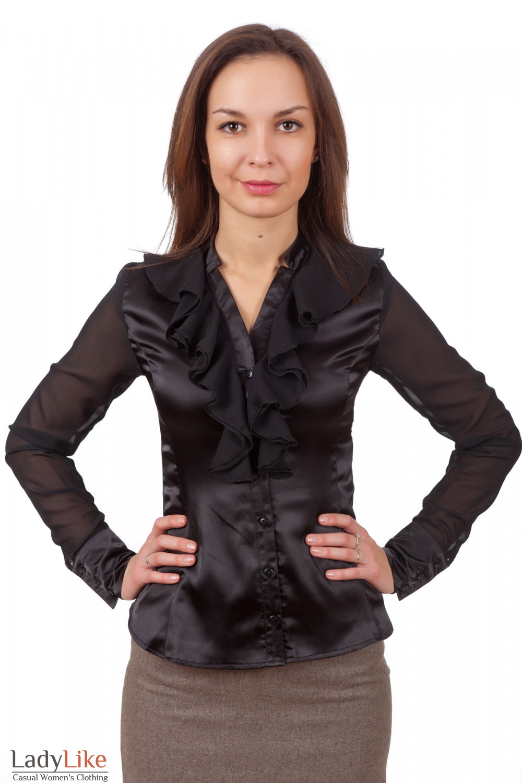 Черная Атласная Блузка Доставка