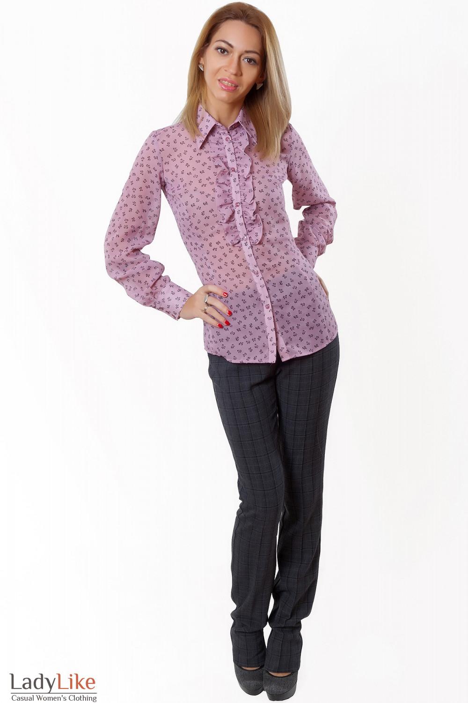 Купить блузку из розового шифона Деловая женская одежда