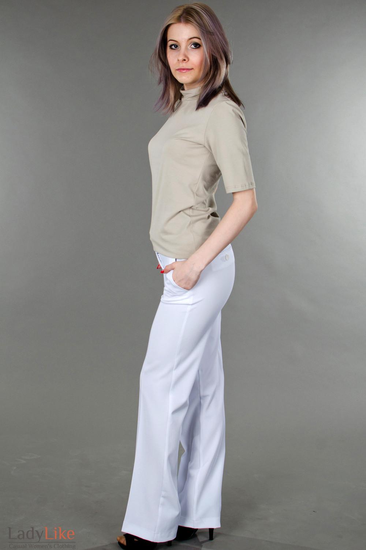Фото Брюки белоснежные летние Деловая женская одежда