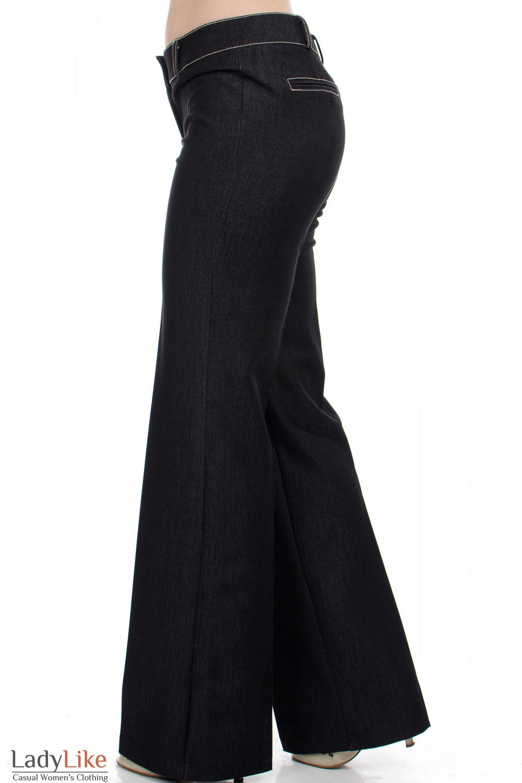 """Брюки черные """"Джинс"""" вид сбоку  Деловая женская одежда"""