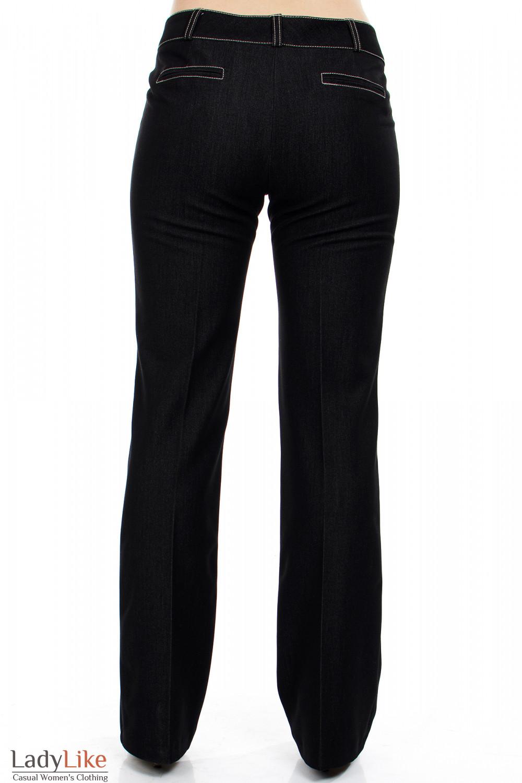 """Брюки черные """"Джинс"""" вид сзади Деловая женская одежда"""