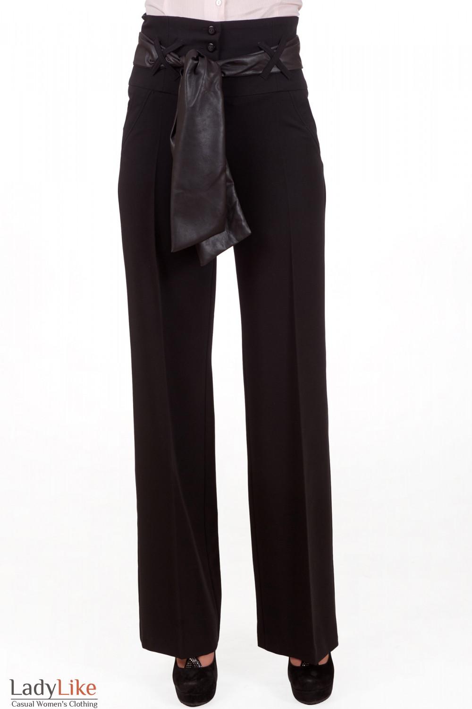 Фото Брюки черные Деловая женская одежда