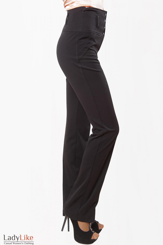 Купить брюки черные на флисе Деловая женская одежда