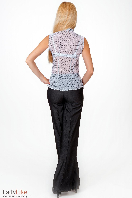 Фото Брюки графит с завышенной талией вид брючин Деловая женская одежда