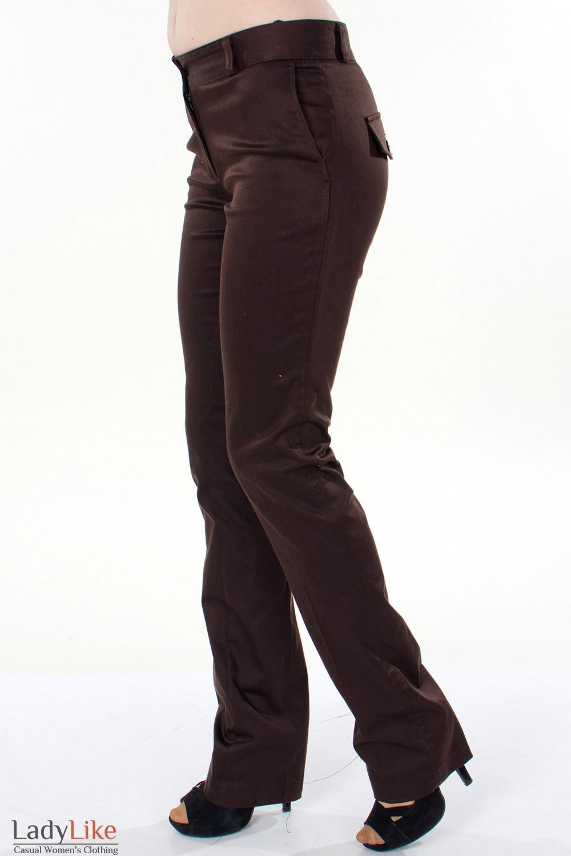 Фото Брюки коричневые Демо вид слева Деловая женская одежда