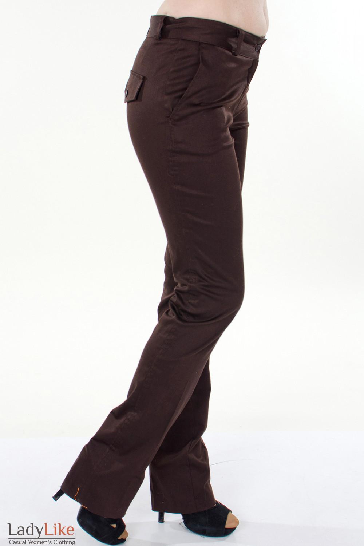 Фото Брюки коричневые Демо вид справа Деловая женская одежда