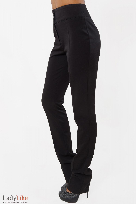 Купить брюки зауженные черные теплые Деловая женская одежда