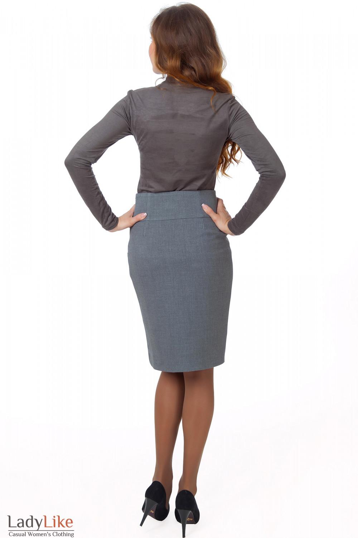 Фото Гольф хаки из спандекса вид сзади Деловая женская одежда