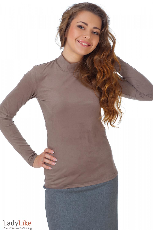 Фото Гольф кофейный из спандекса Деловая женская одежда