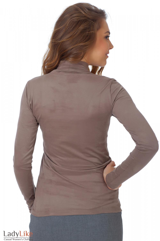Фото Гольф кофейный из спандекса вид сзади Деловая женская одежда